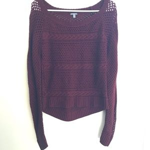 Charlotte Russe Burgundy Knit Sweater